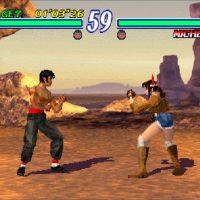 Lee et Michelle s'affrontent dans Tekken 2 sur PlayStation
