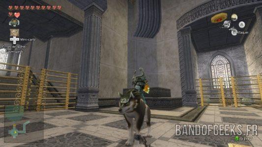 The Legend of Zelda - Twilight Princess HD Midona sur Link-Loup dans le temple du temps