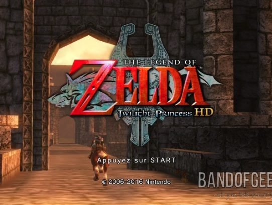 The Legend of Zelda - Twilight Princess HD écran titre