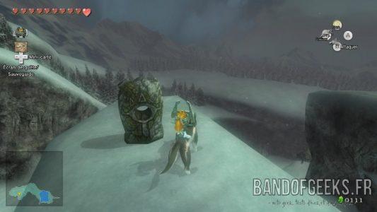 The Legend of Zelda - Twilight Princess HD Link-loup et Midona devant une pierre d'appel