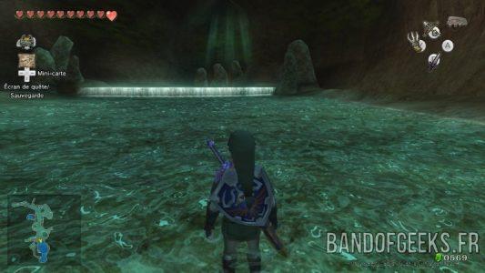The Legend of Zelda - Twilight Princess HD Link dans la source de Lanelle