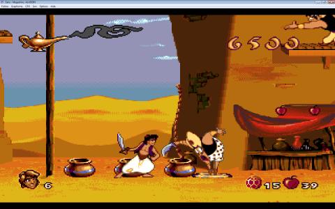 Aladdin et un garde perd son pantalon