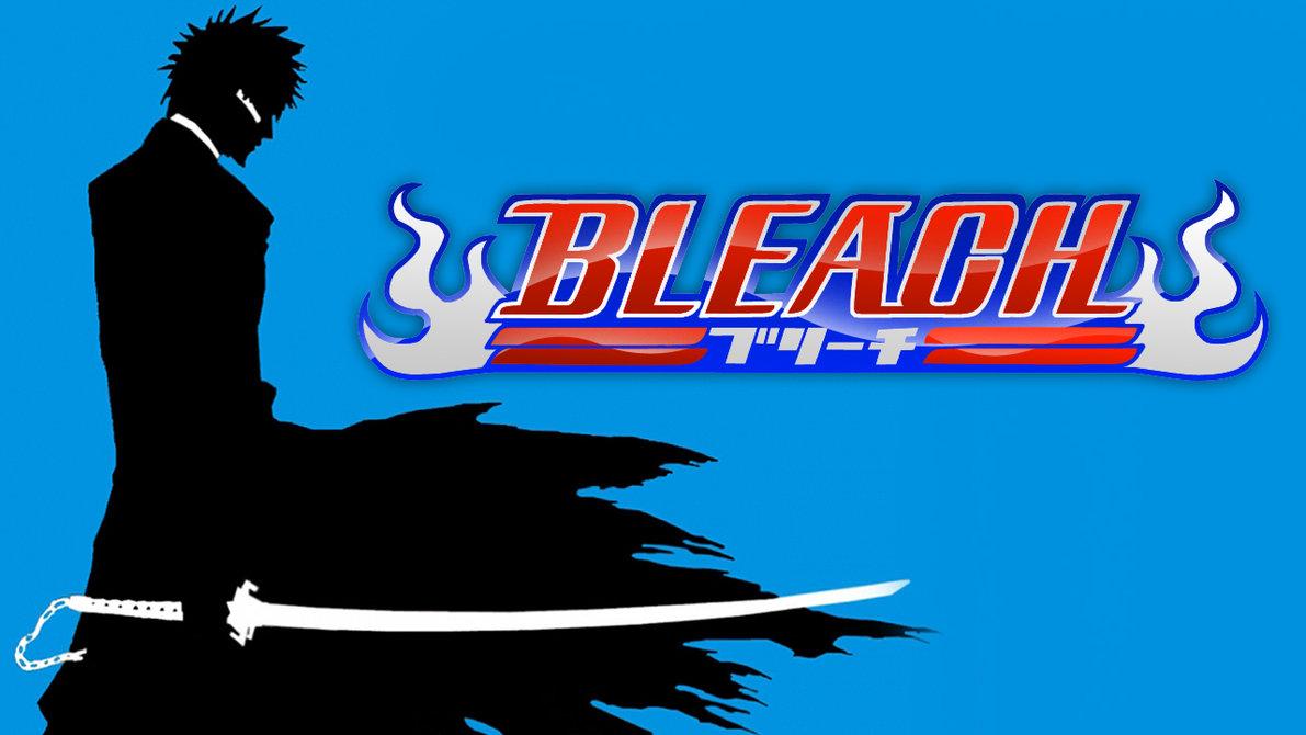 Bleach logo Ichigo sur fond noir