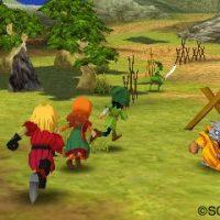 Dragon Quest VII groupe se balade sur une plaine