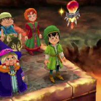 Dragon Quest VII groupe dans un volcan