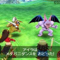 Dragon Quest VII combat avec textes en japonais
