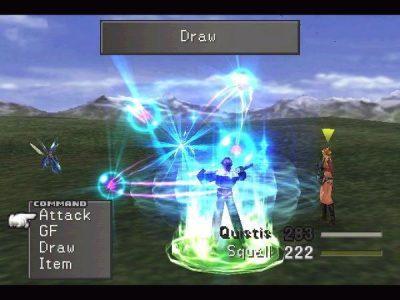 Final Fantasy VIII Squall vole de la magie