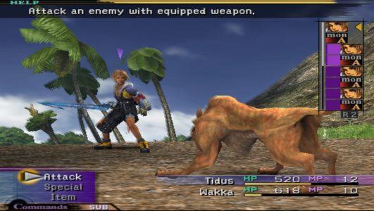 Final Fantasy X Tidus attaque un loup