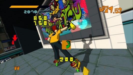 Jet Set Radio Beat tag le mur