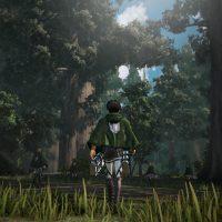 L'Attaque des Titans : Les Ailes de la Liberté Eren se balade en forêt