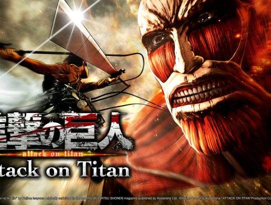 L'Attaque des Titans Logo Eren fonce sur le Titan
