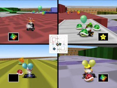 Mario Kart 64 mode ballon