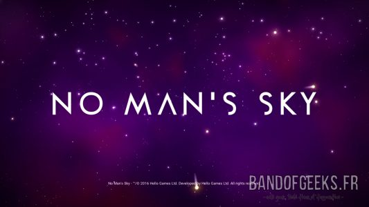 No Man's Sky Ecran Titre Band of Geeks