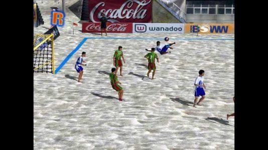 Pro Beach Soccer ralenti coup de pied retourné
