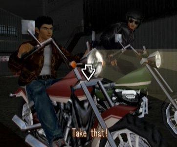 Shenmue Ryo sur sa moto