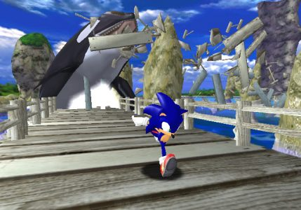 Sonic Adventure Sonic se fait poursuivre par une orque