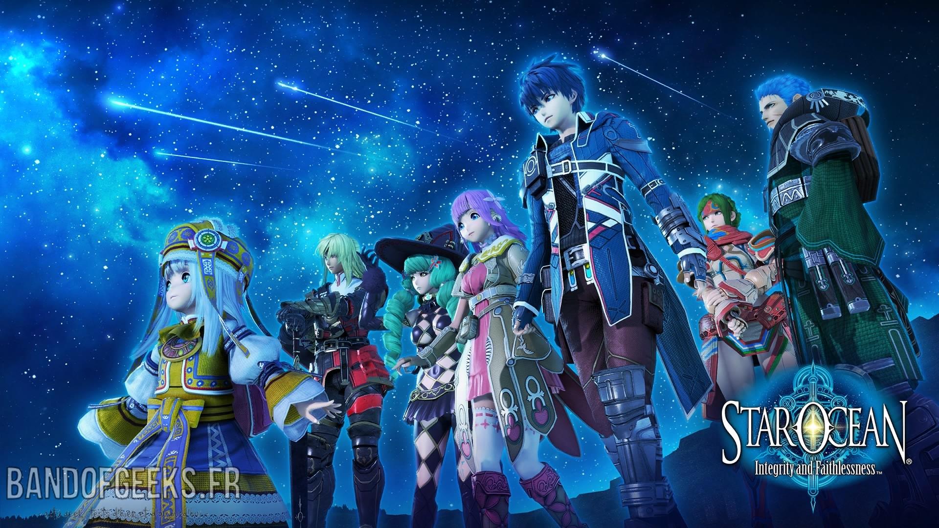 Star Ocean - Integrity and Faithlessness équipe au complet écran titre