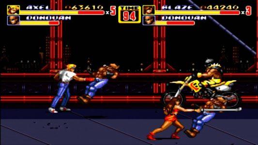 Streets of Rage II Axel et Blaze frappent des loubards