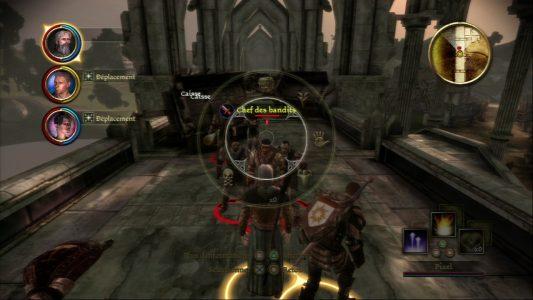 Dragon Age Origins roue qui fige l'action