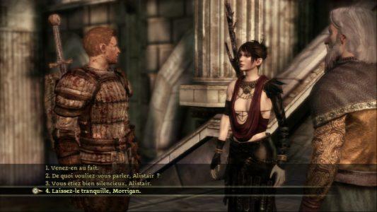 Dragon Age Origins Alistair et Morrigan discutent