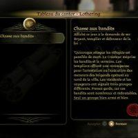 Dragon Age Origins tableau du cantor et une quête affichée