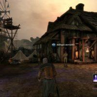 Dragon Age Origins héros se balade dans le village de Lothering