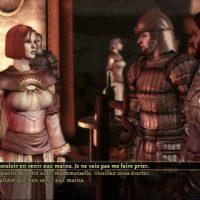 Dragon Age Origins Léliana en pleine discussion avec des gardes