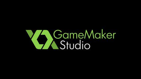 GameMaker Studio logo sur fond noir