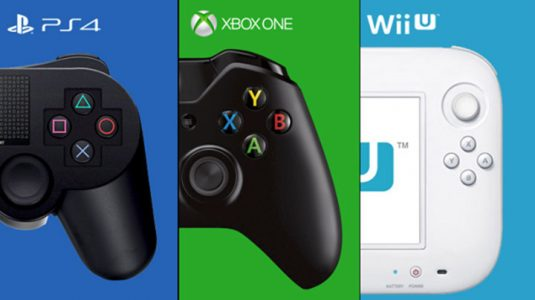 manettes PS4 Xbox One et Wii U