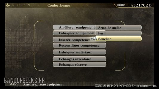 menu-confectionner-guide-trophee-god-eater-resurrection-band-of-geeks