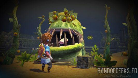 Oceanhorn - Monster of Uncharted Seas le Boss du temple de la forêt