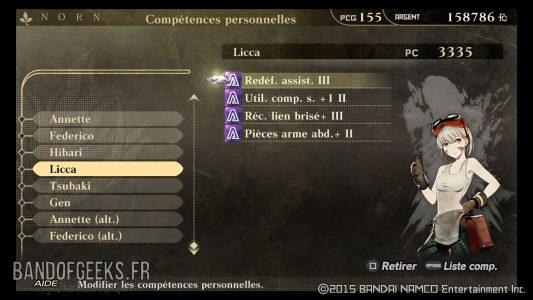 Rikka Licca compétences God Eater Resurrection Guide débutants Band of Geeks