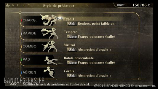 Style Prédateur God Eater Resurrection Guide débutants Band of Geeks