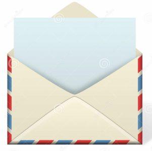 Ca peut pas rater ! une lettre dans une enveloppe