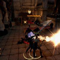 Dragon Age II Hawke en plein combat