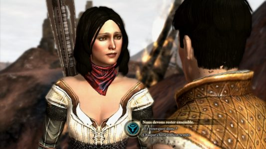 Dragon Age II Bethany discute avec Hawke