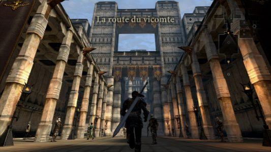 Dragon Age II Hawke avance sur la route du vicomte