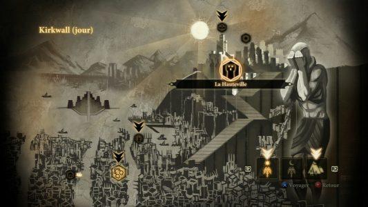 Dragon Age II carte de Kirkwall