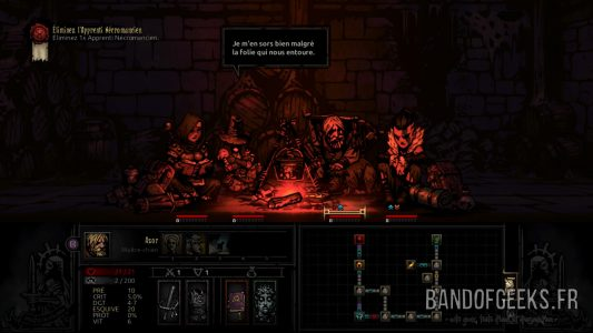 Feu de Camp The Darkest Dungeon Critique Band of Geeks
