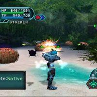 Journal Nostalgie Phantasy Star Online chasseur tire sur monstre