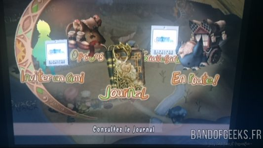Journal Nostalgie menu de Final Fantasy Crystal Chronicles