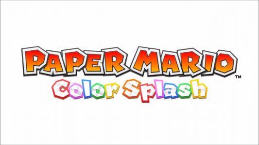 Paper Mario Color Splash Logo sur fond blanc