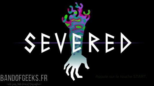 Severed Logo avec bras tranché sur fond noir