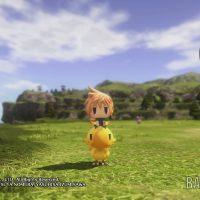 World of Final Fantasy Lann sur un chocobo