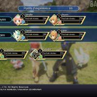 World of Final Fantasy écran de gain d'expérience en fin de combat