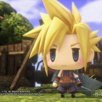 World of Final Fantasy Cloud en mode SD