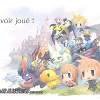 World of Final Fantasy écran de remerciement pour avoir joué