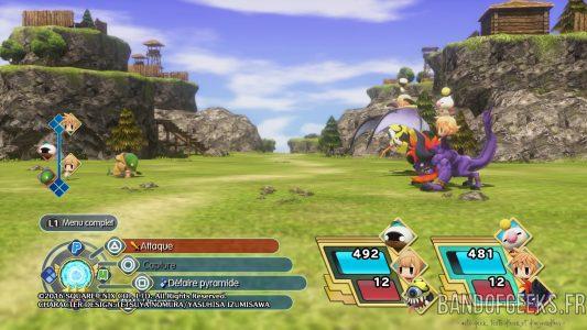 World of Final Fantasy combat