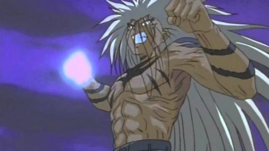 Urameshi Yusuke dans sa forme finale prêt à frapper