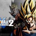 Dragon Ball Xenoverse 2 Goku en super Saiyen avec logo du jeu sur fond gris
